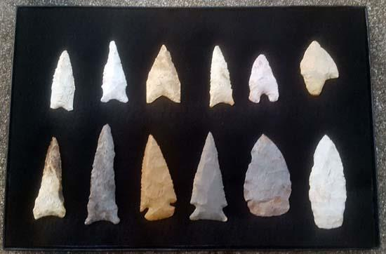 Early Archaic Mnissouri Arrowheads Collection