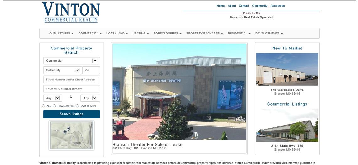 Real Estate Website Design Springfield Missouri